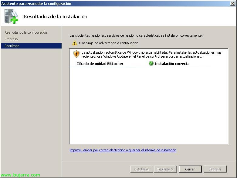 Encriptando el disco duro con Bitlocker en Windows 2008 o Windows ...