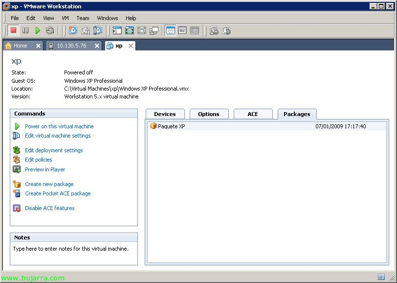 Creating and distributing packages VMware ACE | Blog Bujarra com