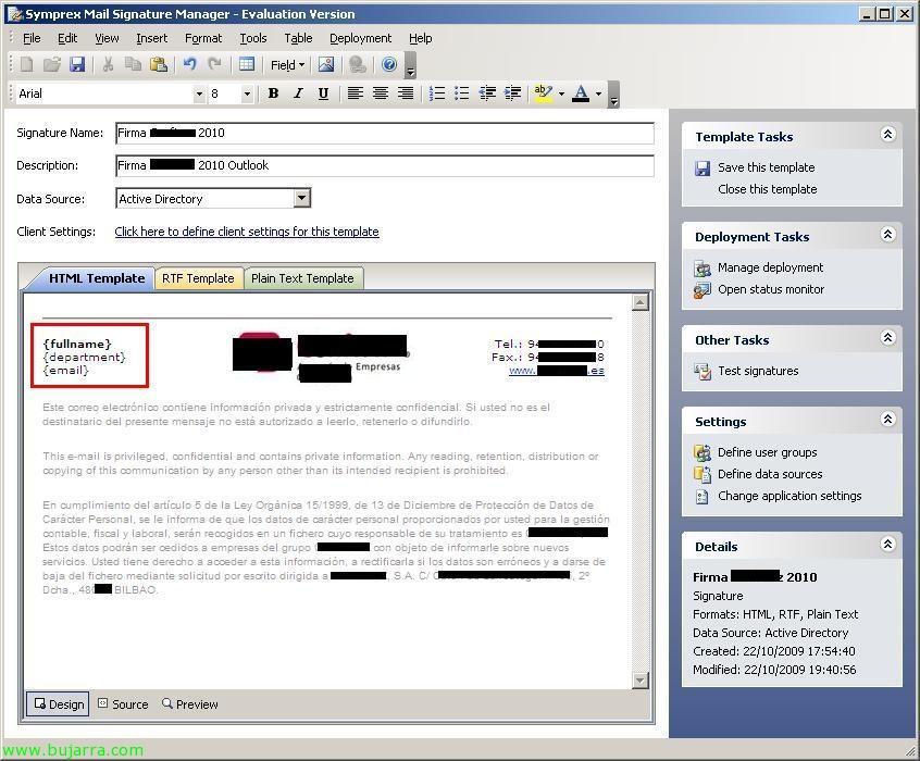 Desplegando firmas de Outlook corporativas de forma automática ...