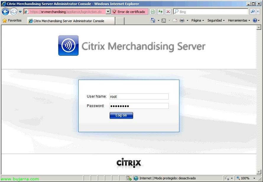 Citrix Merchandising Server configuration and client distribution