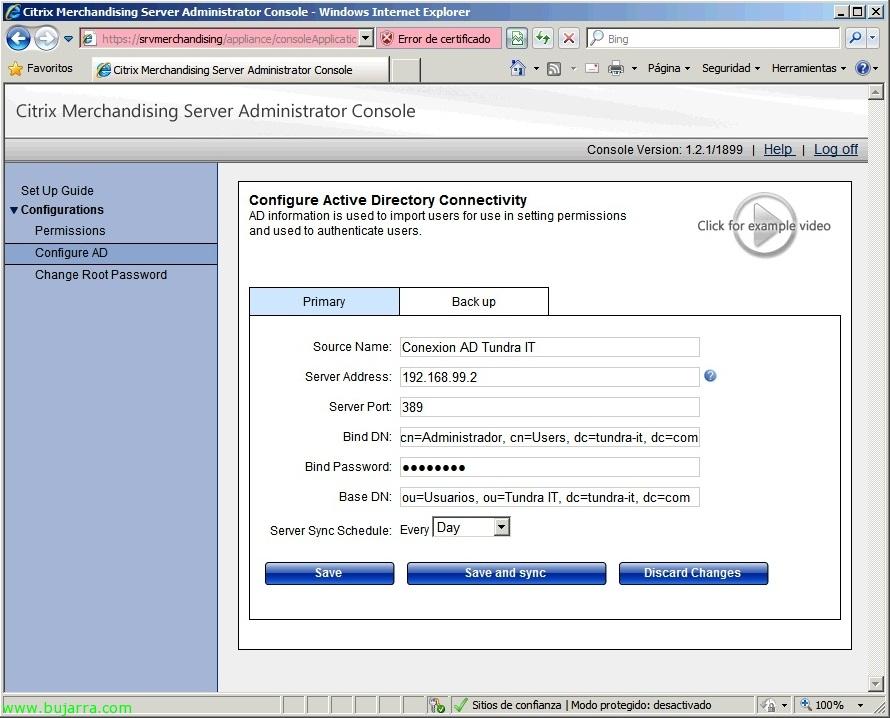 Citrix Merchandising Server configuration and client