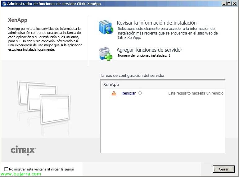 Instalando el primer servidor de citrix xenapp 6 blog - Reiniciar escritorio remoto ...