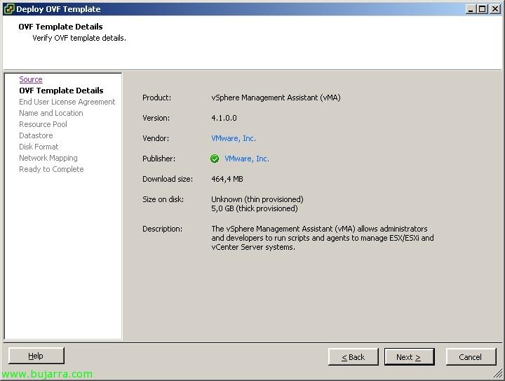 Usando VMware vMA | Blog Bujarra.com