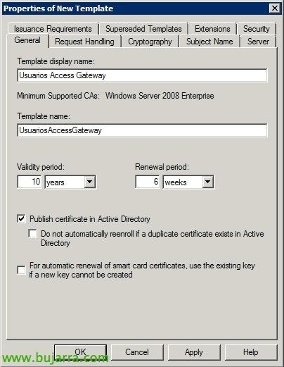 Requiriendo certificados de cliente para el acceso a for Active directory certificate templates