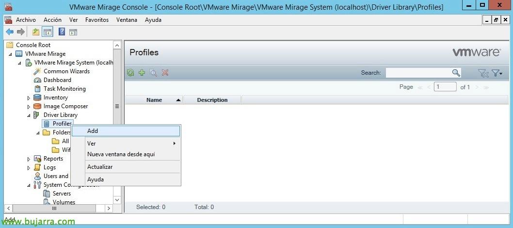 VMware Mirage - Displaying layers of drivers   Blog Bujarra com