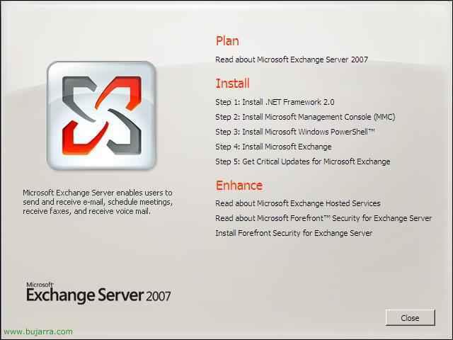 Instalación básica del primer servidor Microsoft Exchange 2007