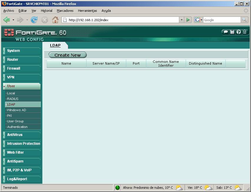 Verwenden der Authentifizierungs gegen Active Directory Fortigate mittels LDAP