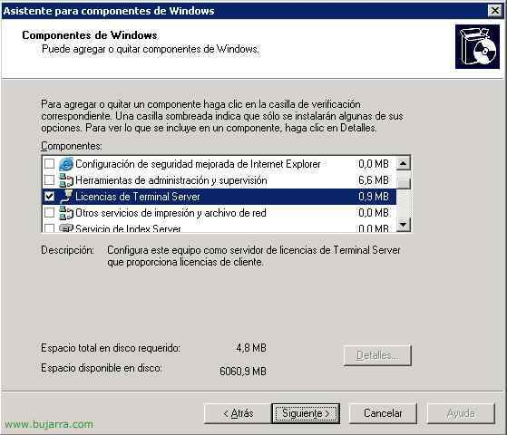 Licenciar un servidor de Terminal Server en Windows 2003