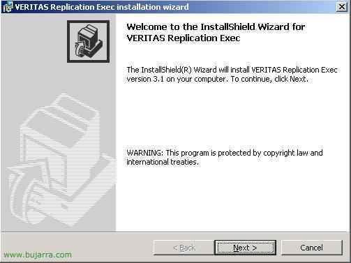 Instalación y configuración de Veritas ReplicationExec 3.1