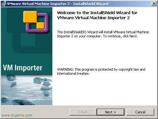 Instalación y uso de VMware Virtual Machine Importer 2
