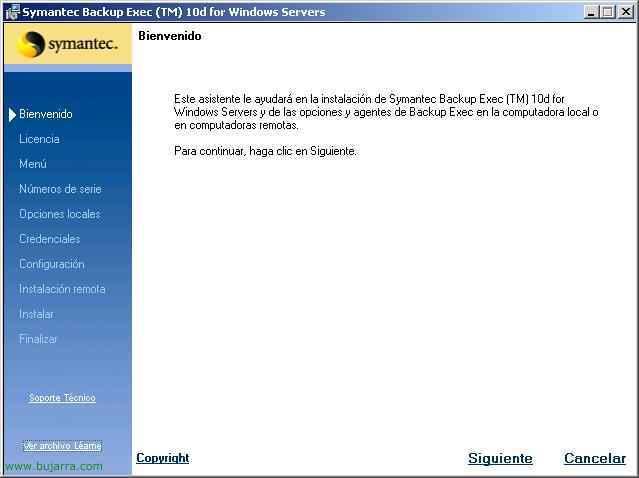Instalación y configuración de Symantec Backup Exec 10.1 – BackupExec 10d