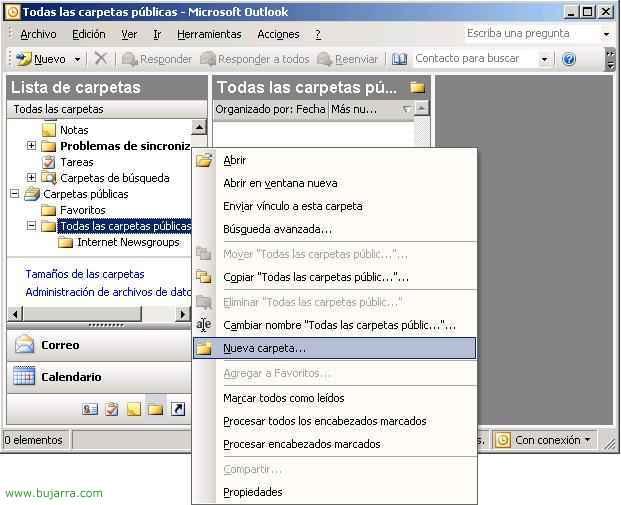 Uso de las Carpetas Públicas en Microsoft Exchange 2003