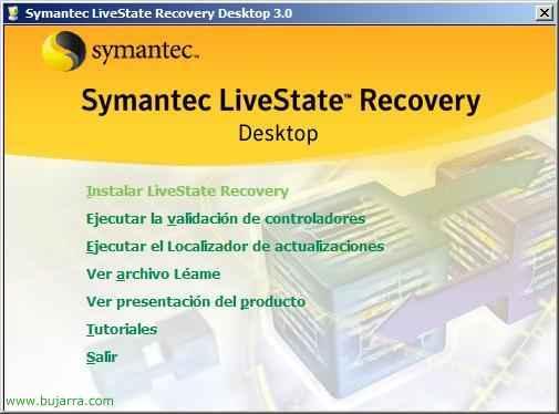 Instalación y configuración de Symantec LiveState Recovery Desktop