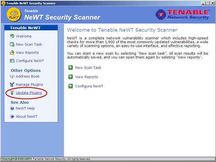 NeWT Security Scanner (Nessus para Windows)