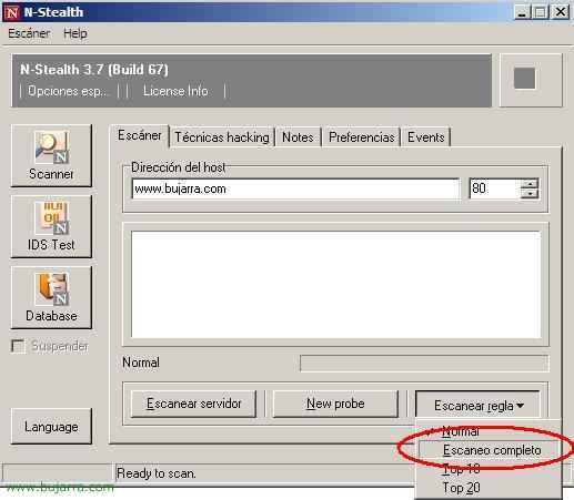 Escáner de vulnerabilidad para servidores de Web: N-Stealth Security Scanner