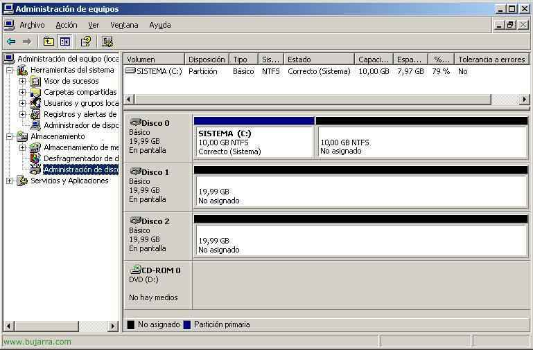 Konfigurieren eines RAID 5 in Windows 2003