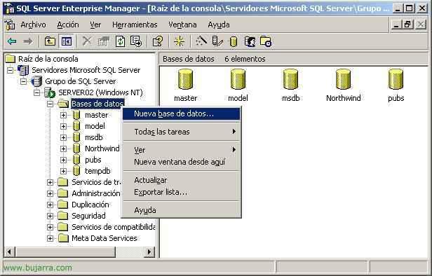 Replicar bases de datos de SQL Server 2000