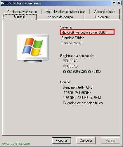 Actualizar a Microsoft Windows 2003 R2
