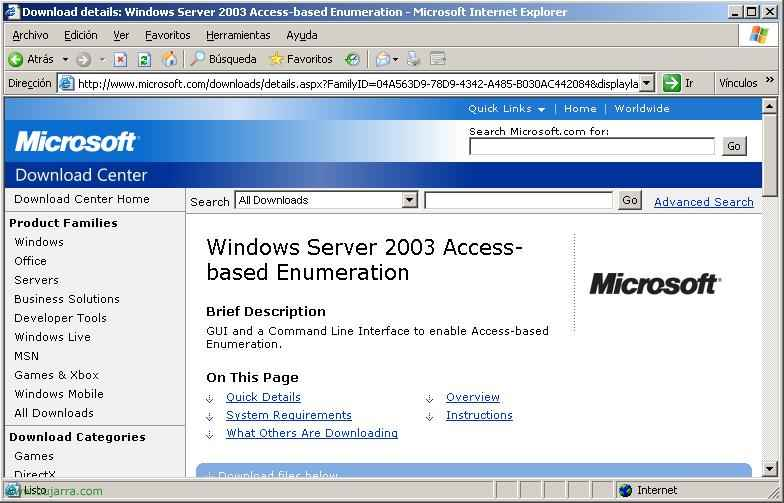 Configurando ABE – Access based Enumeration en Windows 2003