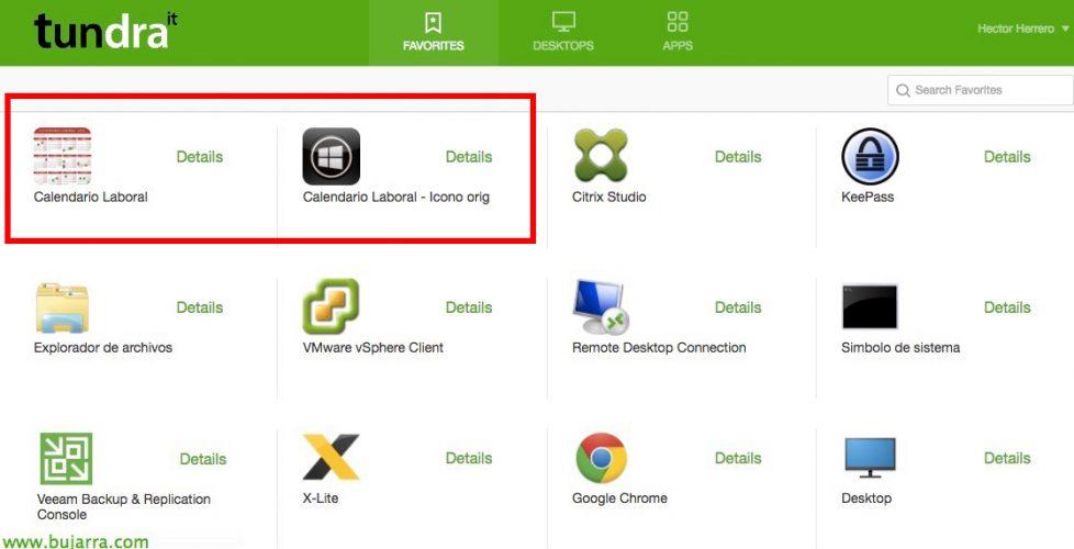 Personalizando los iconos en los Escritorios Virtuales o en las aplicaciones con contenido en Citrix XenApp y XenDesktop 7.x