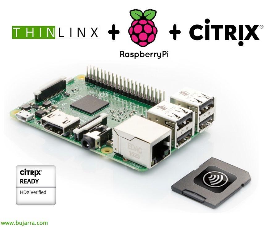 Uso de Raspberry Pi como cliente ligero soportado en Citrix con ThinLinX