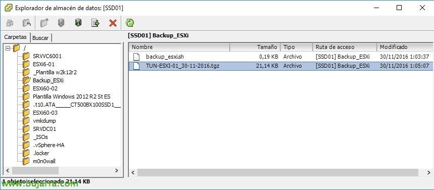 Scheduling backups ESXi configuration 6 x | Blog Bujarra com