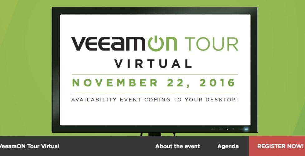 Webinar – VeeamON Tour Virtual