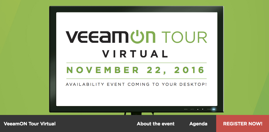 Webinar – VeeamON Tour Virtual