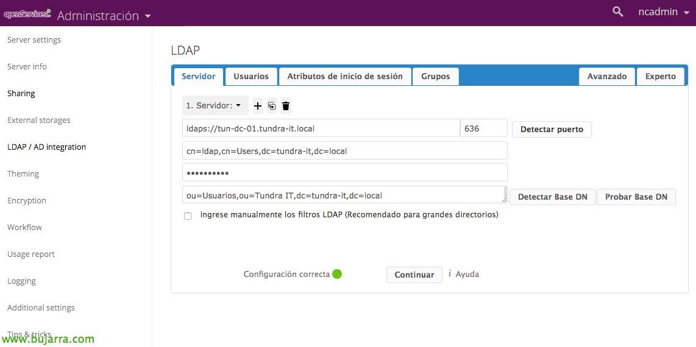 Nextcloud - Integrating with Active Directory | Blog Bujarra com