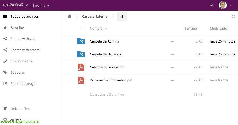 Nextcloud - Adding access external data | Blog Bujarra com