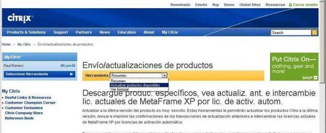 Actualizar licencias entre versiones de Citrix