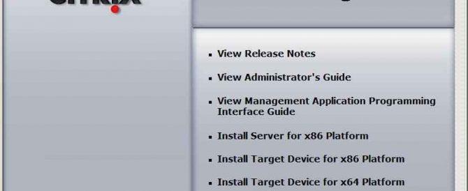 Instalación, configuración y administración de Citrix Provisioning Server
