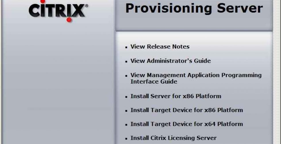 Installation, configuration and administration of Citrix