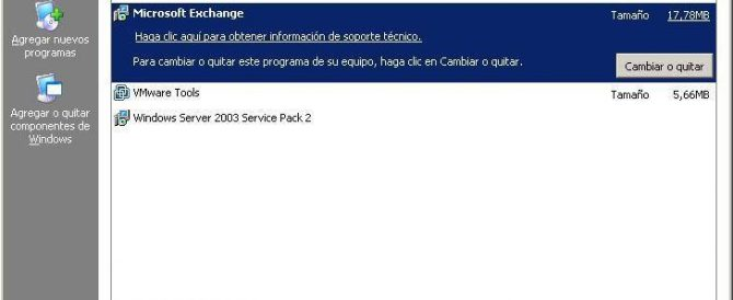 Cómo desinstalar un servidor Microsoft Exchange 2003
