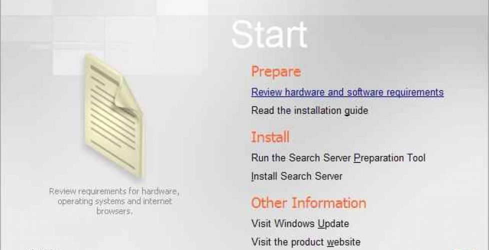 Instalación y configuración de Microsoft Search Server 2008 Express