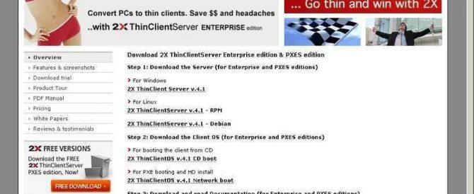 2X ThinClient Server
