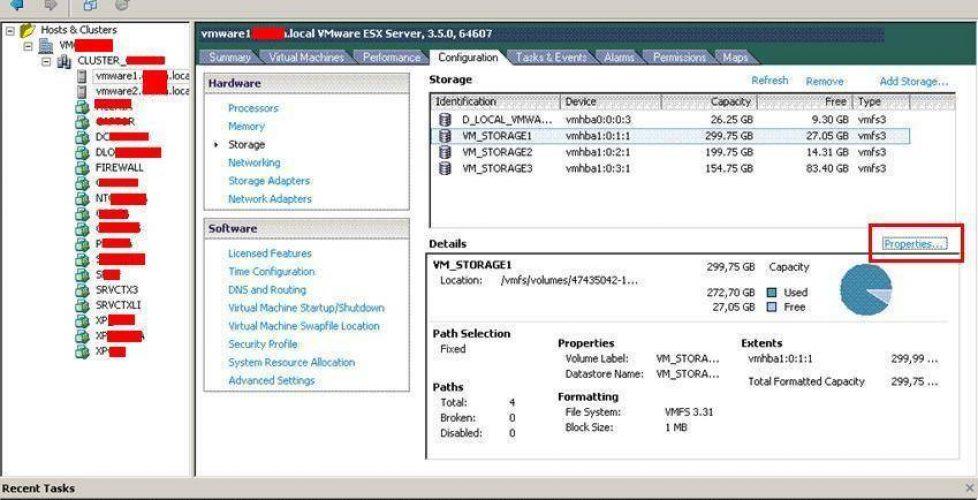 Extender almacenamiento en VMware ESX – Ampliando una LUN y que VMware ESX amplie su partición VMFS