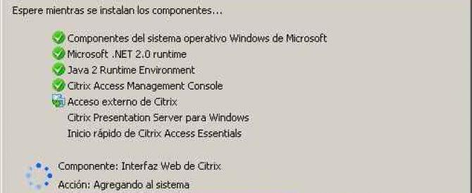 Instalación y configuración de Citrix Access Essentials 2.0