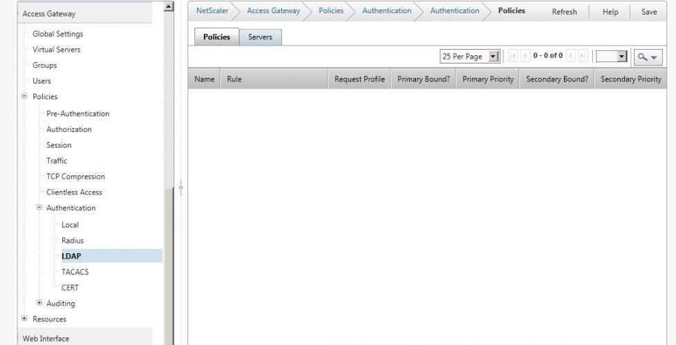 Configuración de Access Gateway en NetScaler
