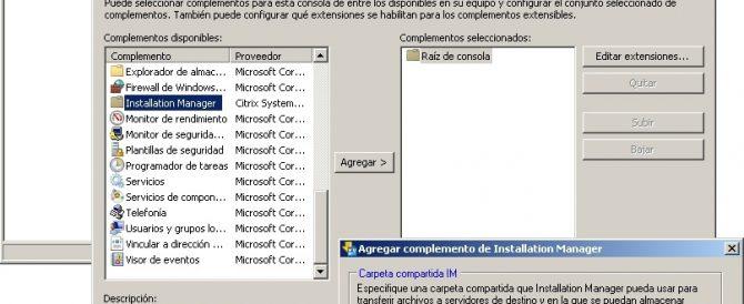 Instalación y configuración de Citrix Installation Manager para XenApp