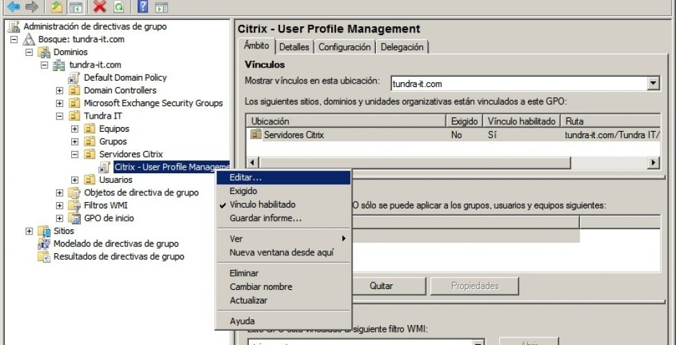 Setting up profiles for XenApp or XenDesktop Citrix Profile