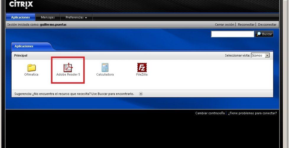 Usando Citrix VM Hosted Apps