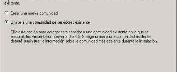 Migración de Presentation Server 4.0 a 4.5 a diferente servidor