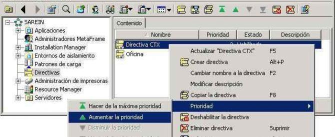 Configurando las Directivas o políticas de Citrix