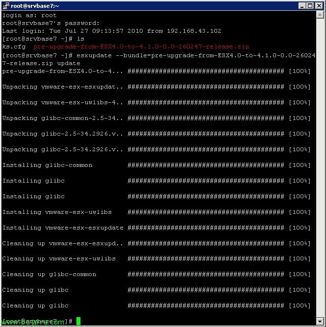 Actualizando de VMware ESX 4.0 a ESX 4.1 de forma manual