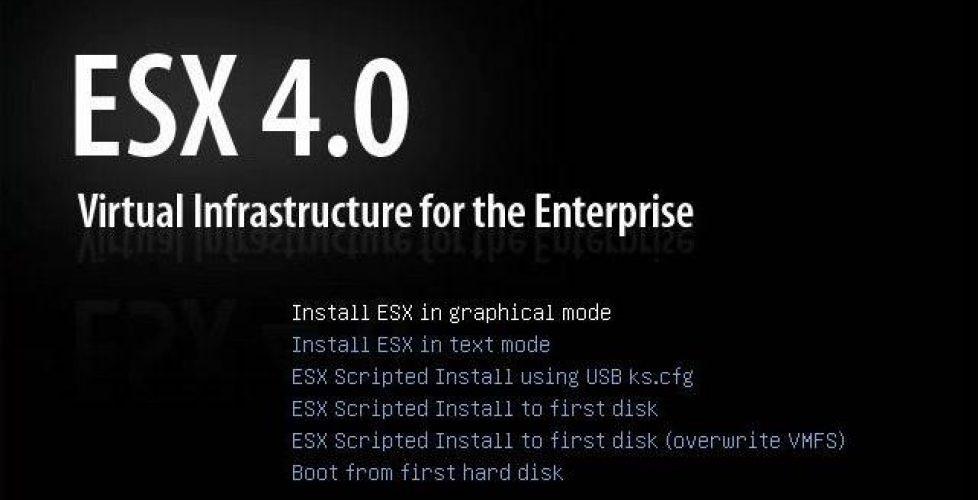 Instalando VMware ESX 4.0