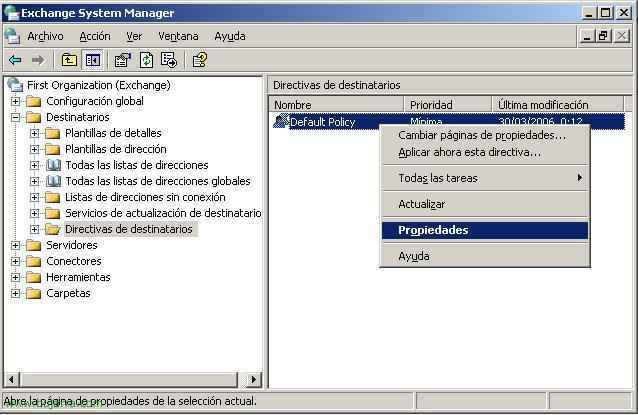 Recibir correos para diferentes dominios en Microsoft Exchange 2003