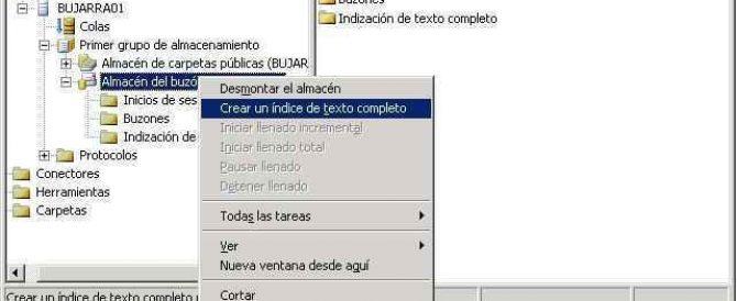 Indexar las Bases de Datos de Microsoft Exchange 2003