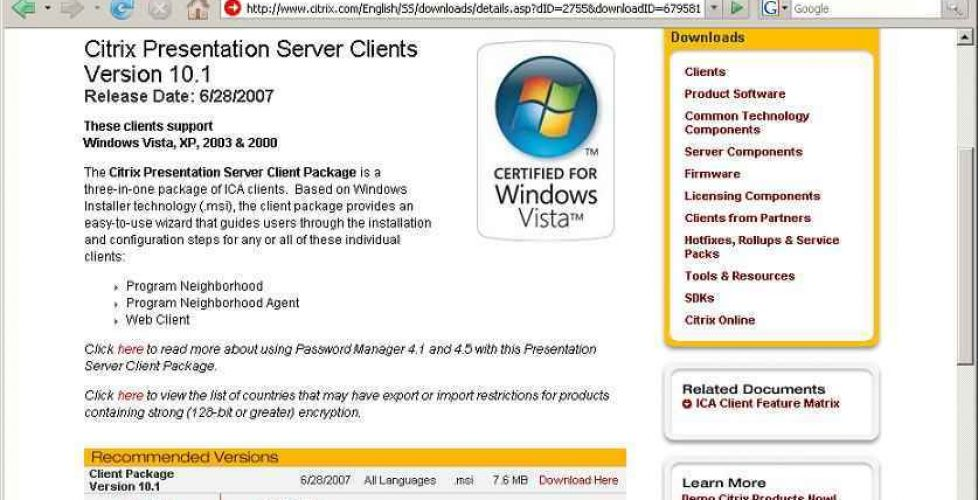 unattended installation of Citrix ICA Client | Blog Bujarra com
