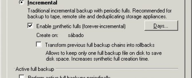 FAQ: Veeam Backup con backups a cinta